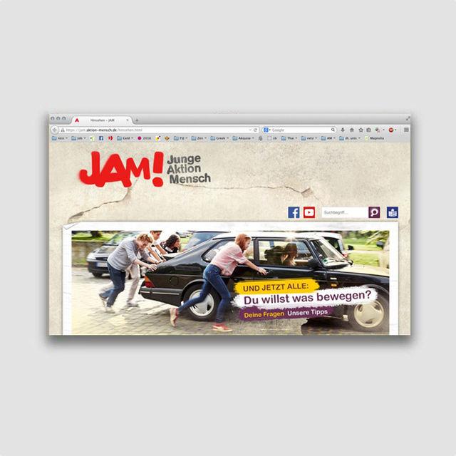 Portfolio: JAM! Jugendportal Aktion Mensch
