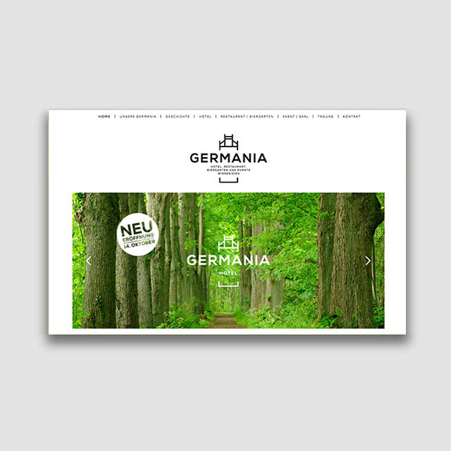 Portfolio: Webseite Hotel GERMANIA